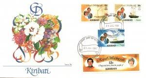 Kiribati 373-375,377 Royal Wedding Fleetwood U/A FDC