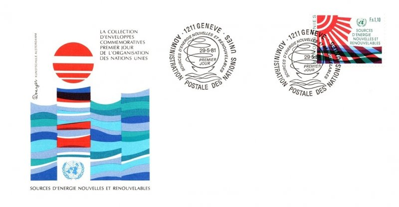 United Nations Geneva, Worldwide First Day Cover