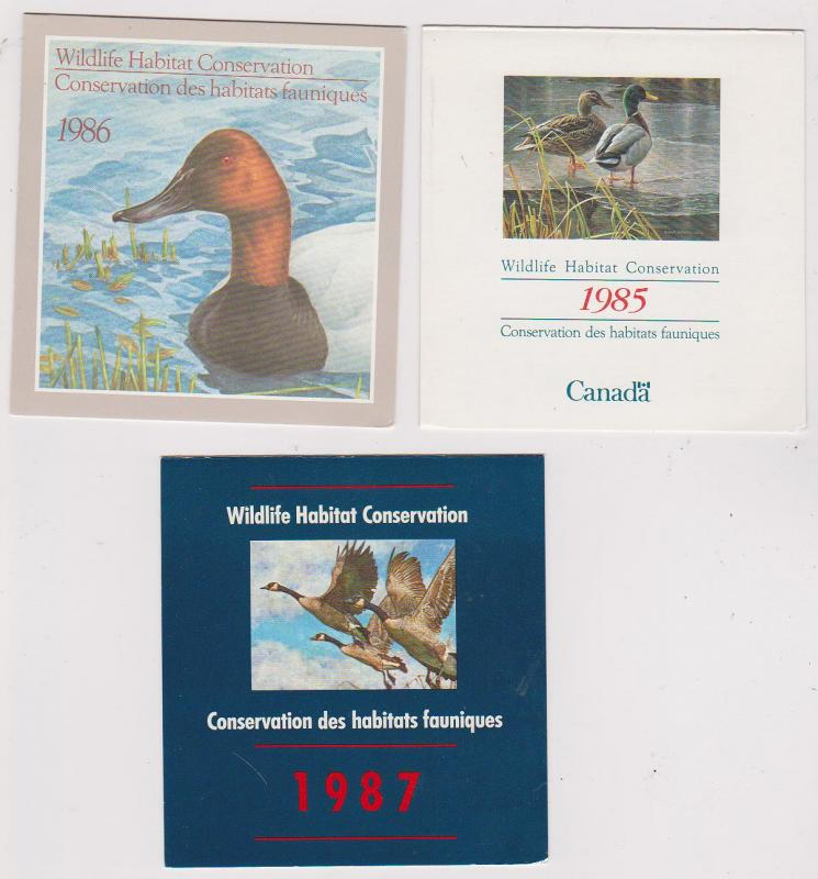 Canada - 1985-1987 Wildlife Habitat Conservation Booklets  USC#FWH1-3