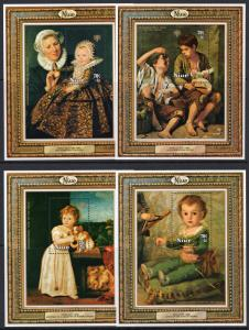Niue 1979 Sc#B8/B11 INTERNATIONAL YEAR OF THE CHILD FAMOUS PAINTINGS 4 S/S MNH