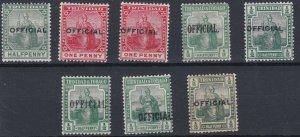 TRINIDAD  1909 - 17  VARIOUS OFFICIALS  MH