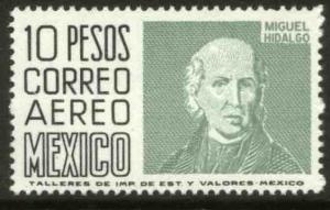 MEXICO C479, $10.00 1950 Def 9th Issue Unwmk Glazed paper MINT, NH. F-VF.