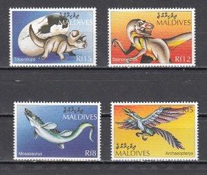 Maldives, Scott cat. 2273-2276. Dinosaurs issue. ^