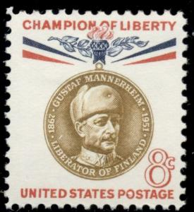 #1166, 8¢ MANNERHEIM CHAMP. OF LIBERTY, LOT 400 MINT STAMPS SPICE YOUR MAILINGS