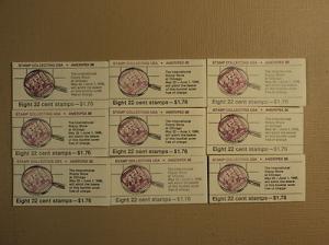 USPS Scott 2198-2201 22c Ameripex 1986 9 Books 72 Stamps ...