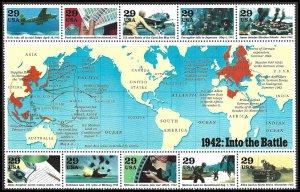 PCBstamps     US #2697 S.S. $2.90(10X29c)World War II, 1942, MNH, (8)