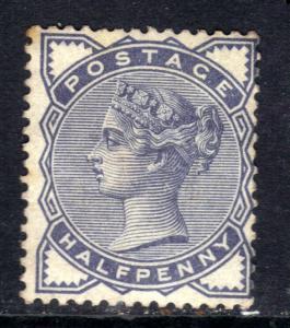 GB 1883 QV 1/2d Slate Blue MM SG 187 ( M1350 )