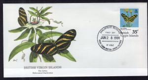 British Virgin Islands 717 Butterfly Fleetwood U/A FDC