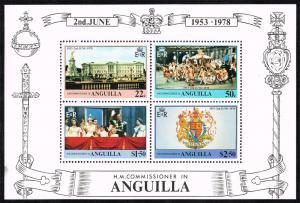 Anguilla #318a Souvenir Sheet of 4; MNH (2.00)