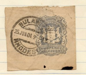 QV 1890s POSTAL STATIONARY PIECE Fine Used 2.5d. Rhodesia NW-14564