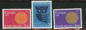 GREECE Scott 985-987 MNH** 1970 Europa set