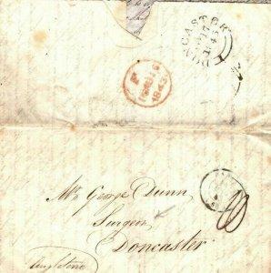 FRANCE Cover Paris GB Doncaster SURGEON MEDICAL Contents EL Letter 1843 EP82