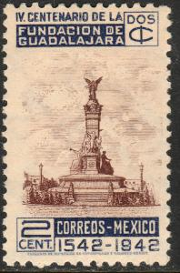 MEXICO 771, 2c 400th Anniv of Guadalajara. MINT, NH. VF.