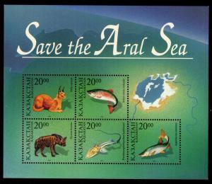 Kazakhstan - Mint Souvenir Sheet Scott #145 (Aral Sea Wildlife)