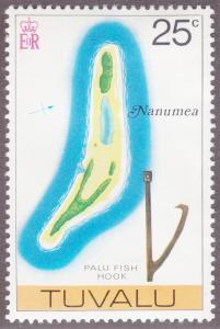 Tuvalu 32 Map of Nanumea 1976