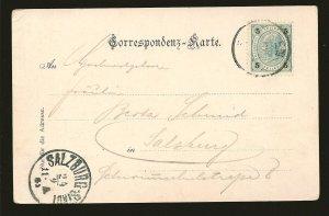 Austria 73a On Postmarked Salzburg-Stadt Postcard Used
