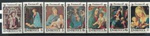 Dominica #447-53a* NH  CV $3.25 Christmas 1975 Complete set & Souvenir sheet