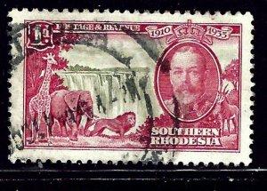Southern Rhodesia 33 Used 1935 KGV Silver Jubilee (RR) (ap1072(