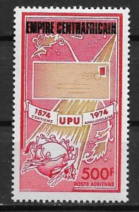 1974 Central Africa  C159 UPU Centenary overprinted Central African Empire MNH