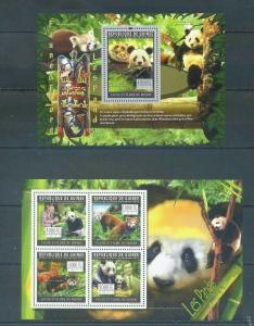 Guinea 2011 panda wild animals bear klb+s/s MNH