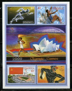 DOMINICA  2000 MELBOURNE  OLYMPIC GAMES SHEET MINT NEVER HINGED