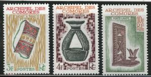 Comoro Islands Scott 57-59 MH* 1963 set