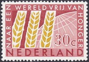 Netherlands # 414 mnh ~ 30¢ Wheat and Globe