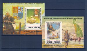 S.TOME E PRINCIPE SC# 672a-d, 673, 674 EXPLORERS MNH, - SEE PICTURES