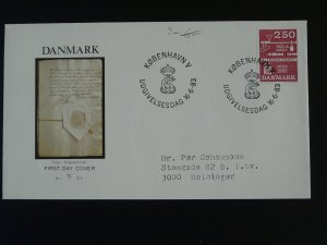 mathematics weights and measures FDC Denmark 77690