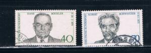 Germany 1159-60 Used set Schweitzer and Bockler (GI0163P13)+