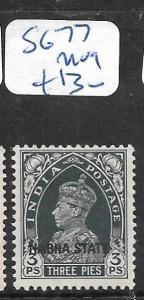 INDIA  NABHA (P2402B) KGV1  3P  SG 77  MOG