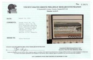 726, Scott, Canada, variety, MNHOG, misplaced black impressions and ghost print
