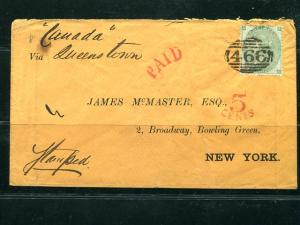 Great Britain #42 on Cover  Cat $450 - read   - Lakeshore Philatelics