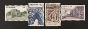 Faroe Islands 1988 #182-85, MNH, CV $5.70