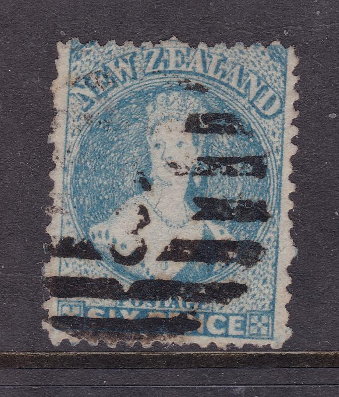 New Zealand a used 6d Full Face Queen star wmk perf 12.5