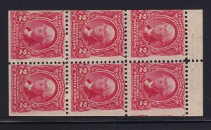 301c Booklet Pane F-VF OG lightly hinged with nice color cv $ 500 ! see pic !
