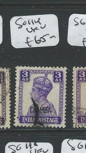 INDIA CHAMBA (P0804B) KGVI  3A  SG114   VFU