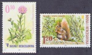 2007 Bosnia Herzegovina 478-479 Fauna and flora