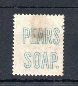 1d LILAC 16 DOTS MOUNTED MINT + 'PEARS SOAP' UNDERPRINT Cat £550