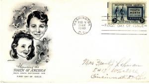 1948 Youth of America (Scott 963) Artmaster FDC