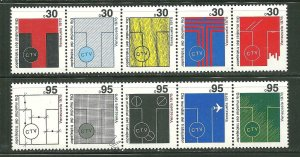 Venezuela MNH 1199-1200 2 Strips Of 5 Designs