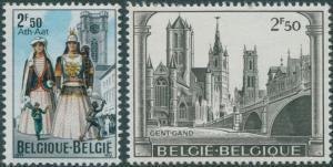 Belgium 1971 SG2234-2235 Historic Towns set MNH
