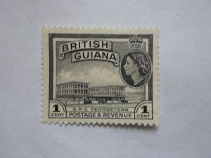british guiana stampUSED NO HINGE MARKS, # 9