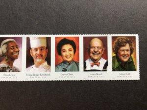 U.S.#4926a Celebrity Chefs 49c FE Horiz.Strip of 5, MNH.