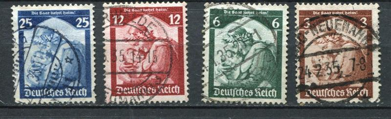 Germany 1935 Mi 565-8 Used Return SAAR to the Gertmany 3700