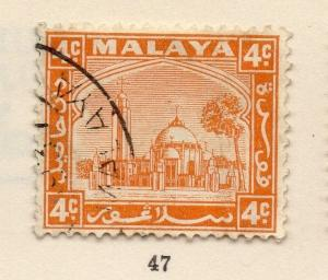 Malaya Selangor 1935 Mosque Early Issue Fine Used 4c. 162643