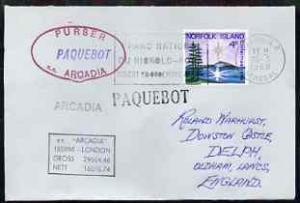 Norfolk Island used in Dakar (Senegal) 1968 Paquebot cove...