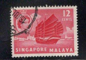 Singapore Scott 35 Used Ship stamp