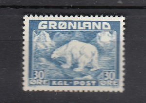 J25850  jlstamps 1938-46 greenland a hv of set mhr #7 polar bear