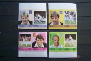 Nevis 1984 MNH Leaders of the World - Cricketers IMPERF